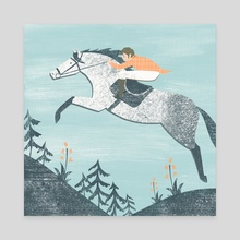 Spring Riding - Canvas by Angela Keoghan