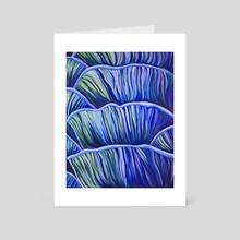 Blue Mushrooms - Art Card by Kassie Stanley