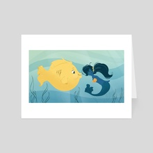 Under The Sea - Art Card by Kyrstin Avello