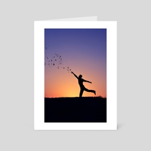 silhouette  - Art Card by Adrian Limani