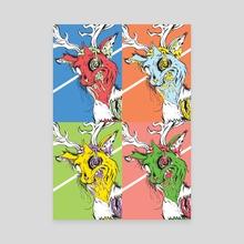 Hyene Pop - Canvas by Fabien Kaci