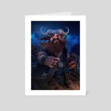 Viking - Art Card by Luigi Monaldi