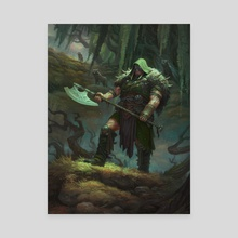 MtG - Garruk, Cursed Huntsman - Canvas by Dmitry Burmak
