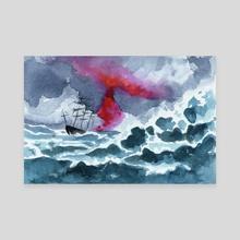 storm - Canvas by Rowan Fridley