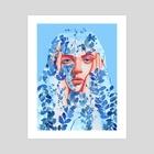 Blue - Art Print by Riso  Chan