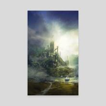 The City - Canvas by Johann BLAIS
