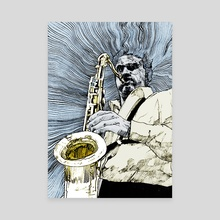 saxofonista - Canvas by mamut  rojo