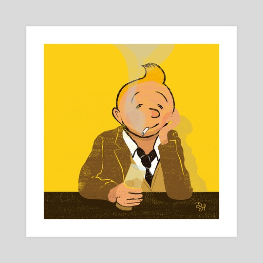 Looser Tintin by LeftHandedGraphic