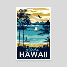 aloha hawaii - Canvas by matt schnepf