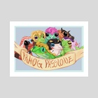 Passione as frogs - Art Print by Mari S
