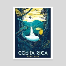 costa rica rainforest - Canvas by matt schnepf