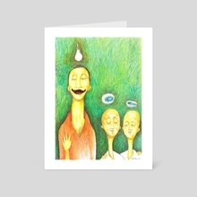 father and sons - Art Card by charles djalu