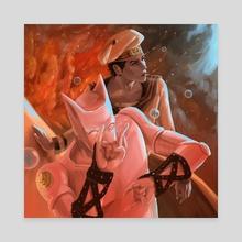 Yoshikage Kira (JJL) & Killer Queen - Canvas by Jose