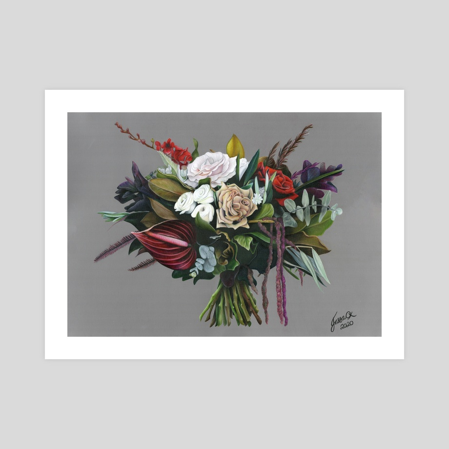 Floral Bouquet Print An Art Print By Jessica Oxley Inprnt