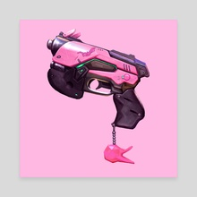 Baby D.va Pistol - Pink - Canvas by Ashley Brielle