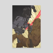 Vader vs Chewie - Canvas by Jai Kamat