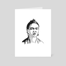 Frida Kahlo - Art Card by Dafina Dervishi