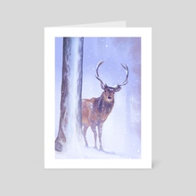Winter Deer - Art Card by Sophie Eves