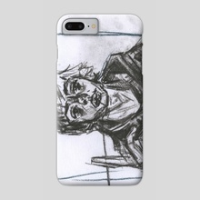 Charcoal portrait - Phone Case by Jack Coombes