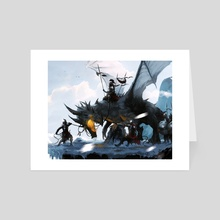 Unruly Dragon - Art Card by Bartek Fedyczak