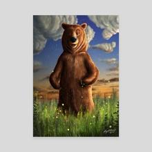 Bear Illustration - Canvas by Rafael Andrade