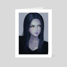 Widowmaker Portrait - Art Card by KAI (umigraphics)