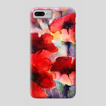 Abstract poppies - Phone Case by Alessandro Andreuccetti