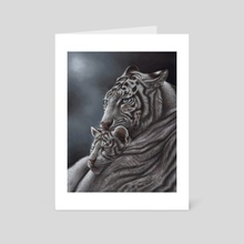 White Tiger - Art Card by Richard Macwee
