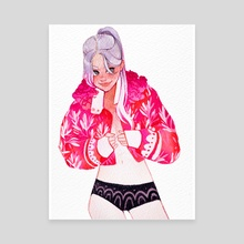 Pink jacket - Canvas by Mashiiro