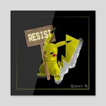 Resist-e-mon: Pikachu - Acrylic by Rachel Creemers