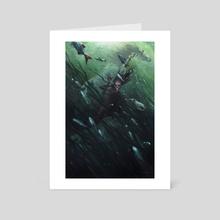 Deep as Hell Kettles - Art Card by Tiffany Turrill