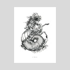 Hippocampus  - Art Print by Shirley Liang