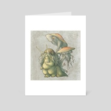 Snail and Mushroom Changelings - Art Card by Savannah Horrocks