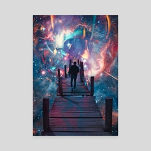 Astral Travel - Canvas by Marischa Becker