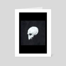 Beautiful skull  - Art Card by David  Eikeland