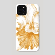 Gold Orchid X - Phone Case by Paulina Navarro