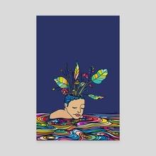 Spring Head - Canvas by ninhol