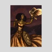 Goddess of Wisdom - Canvas by Christy Tortland