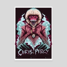 Monkey Beast - Canvas by Chris Percy