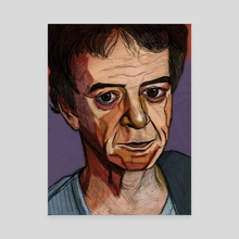 Lou Reed - Canvas by Cara Andrianos