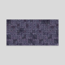 Dungeon Wall - Twilight - Canvas by Zach Vance