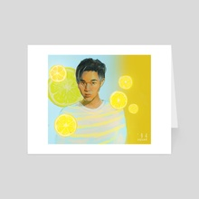 Yellow - Art Card by Klaudia Kazecka