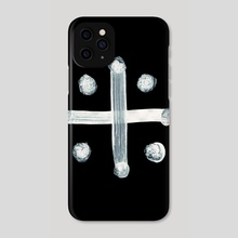 Alchemical Symbols - Distilled Vinegar Two Inverted - Phone Case by Wetdryvac WDV
