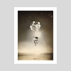 Space collection : The Astronaut - Art Print by Julien KALTNECKER