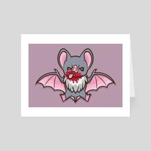 Vampy Bat - Art Card by Jennifer Smith