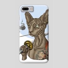 Yakuza cat - variant 3 - Phone Case by Arturo Galindo