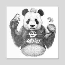 Punk Panda - Acrylic by Ronn Kools