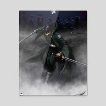 Hashira of Steel Levi Ackerman - Acrylic by Mally Swavez