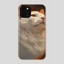 White Cat - Phone Case by Mari-Liis Kirsimägi