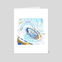 Shark Vehicle - Art Card by Requinoesis